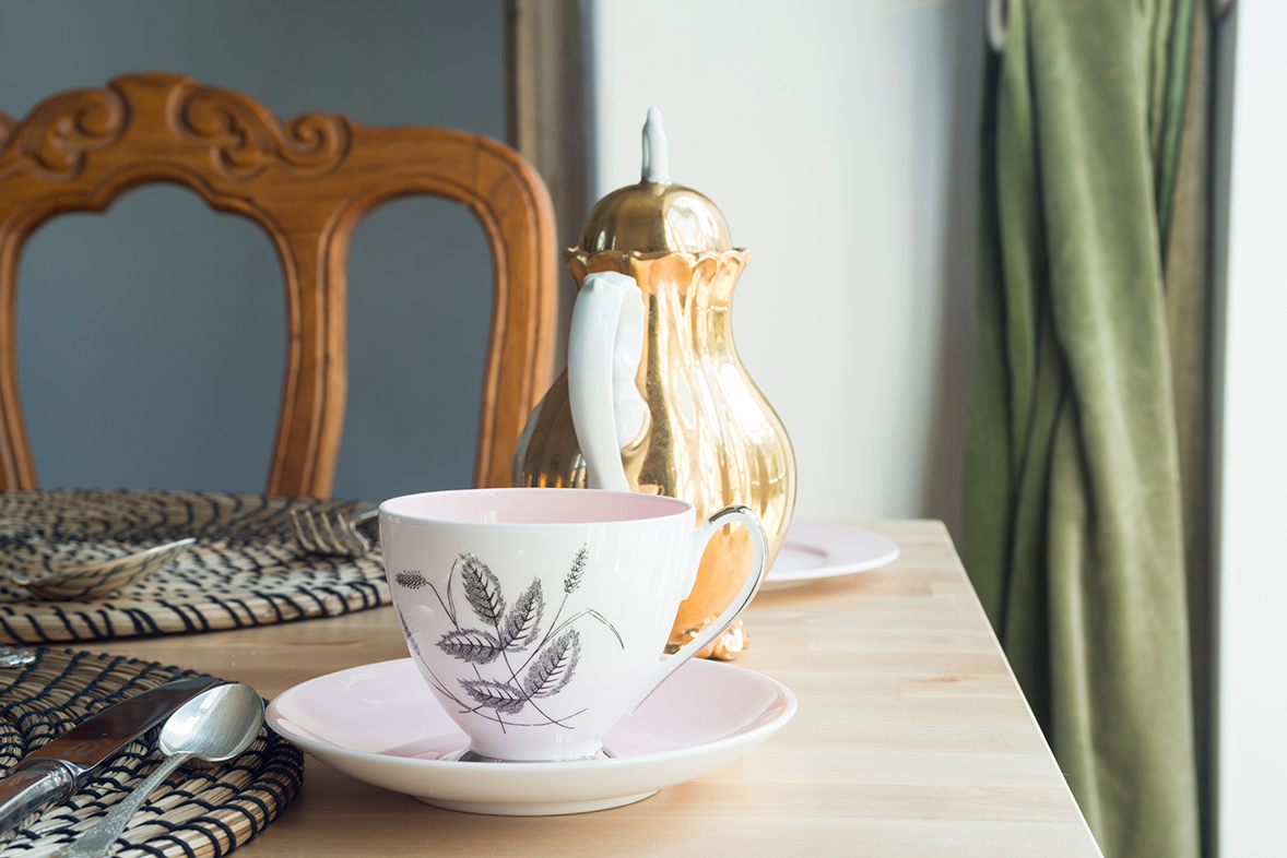 Breakfast room tea cup